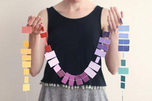 DIY – Guirnalda con muestras de colores