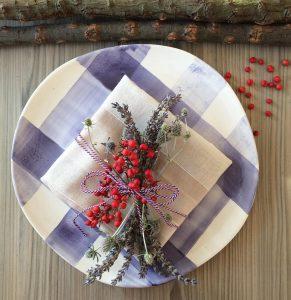 La mesa adornada