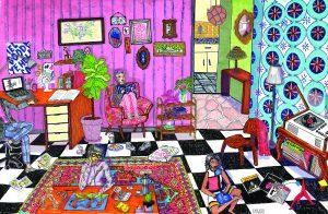17 obras de arte escondidas en una ilustración de Eme Jota Gómez