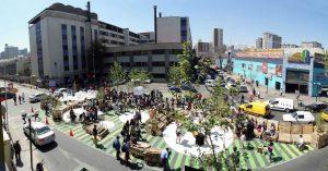 Una experiencia peatonal paseo bandera, Santiago centro