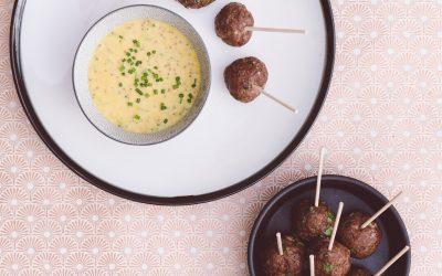 Albóndigas Con Salsa De Miel Y Mostaza Por El Recetario
