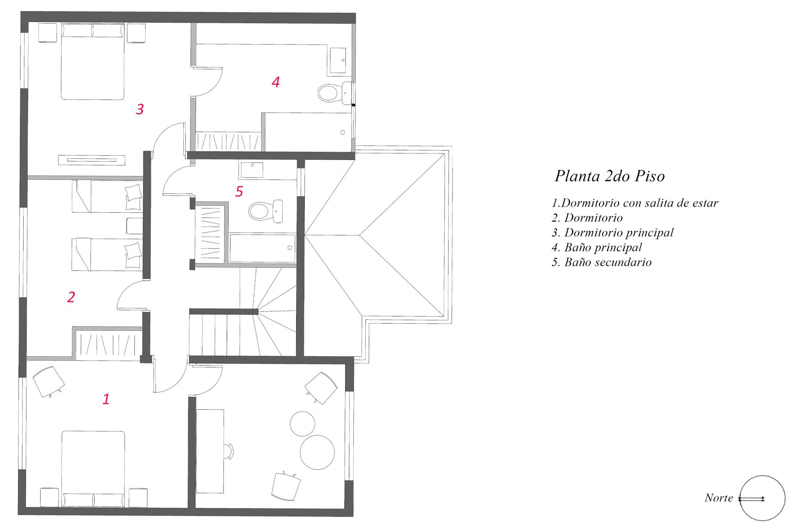 Plano Casa Las Licérnagas
