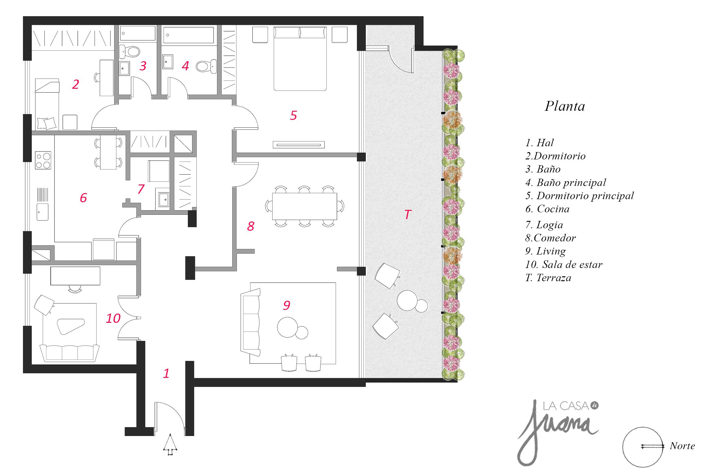 Piso Providencia - Arriendo - La Casa de Juana